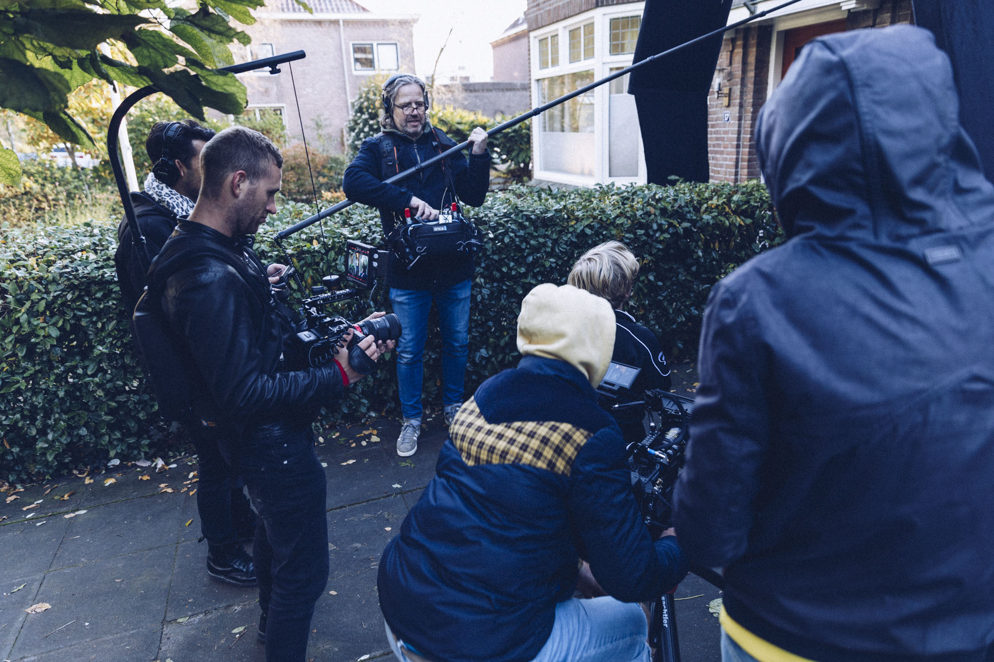 Shooting the behind the scenes video for Poiesz Supermarkten / NoorderTrots Commercial. With the camera guys from Locals Agency.